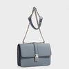 Izzy and Ali Vegan Leather Handbags - Amy Shoulder in sky blue