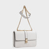 Izzy and Ali Vegan Leather Handbags - Amy Shoulder in white