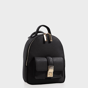 Izzy and Ali Vegan Leather Handbags - Amy Backpack in black