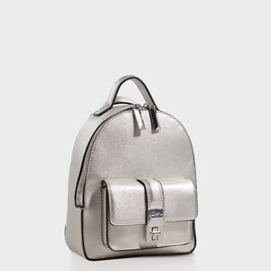 Izzy & Ali | Amy Backpack in silver