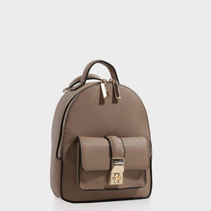 Izzy and Ali Vegan Leather Handbags - Amy Backpack in taupe