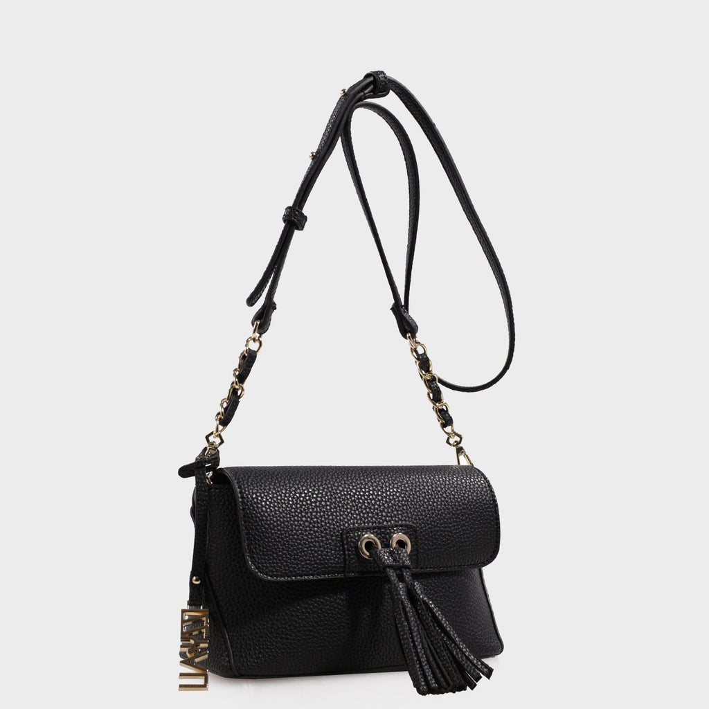 Izzy and Ali Vegan Leather Handbags - Ali Crossbody in black