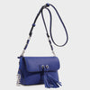 Izzy and Ali Vegan Leather Handbags - Ali Crossbody in blue