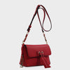 Izzy and Ali Vegan Leather Handbags - Ali Crossbody in red