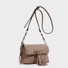 Izzy and Ali Vegan Leather Handbags - Ali Crossbody in taupe