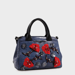 Izzy and Ali Vegan Leather Handbags - Beverly Crossbody Embroidered