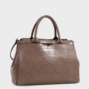 Izzy & Ali | Beverly Satchel in taupe