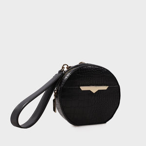 Izzy and Ali Vegan Leather Handbags - Beverly Wristlet in black
