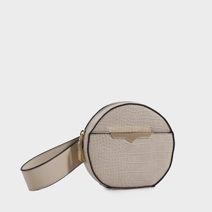Izzy and Ali Vegan Leather Handbags - Beverly Wristlet in stone