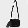 Izzy and Ali Vegan Leather Handbags - Alma Shoulder in black