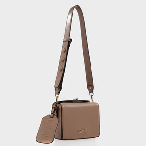 Izzy and Ali Vegan Leather Handbags - Alma Shoulder in taupe