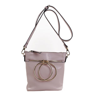 Izzy and Ali Vegan Leather Handbags - Dual Ring Medium Bucket Bag