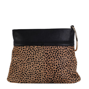 Izzy and Ali Vegan Leather Handbags - Animal Print Clutch Cheetah