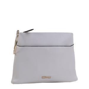Izzy and Ali Vegan Leather Handbags - Bae Classic Clutch White