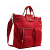 Izzy and Ali Vegan Leather Handbags - Firenze Drawstring Red