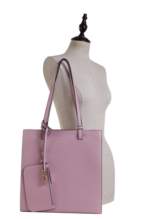Izzy and Ali Vegan Leather Handbags - Tote with Clutch