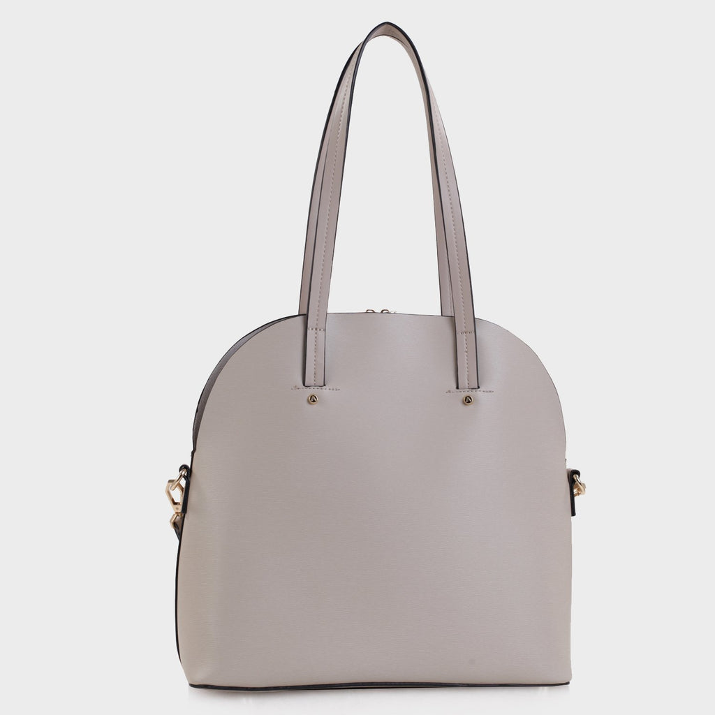 Izzy and Ali Vegan Leather Handbags - Eliza Tote in taupe
