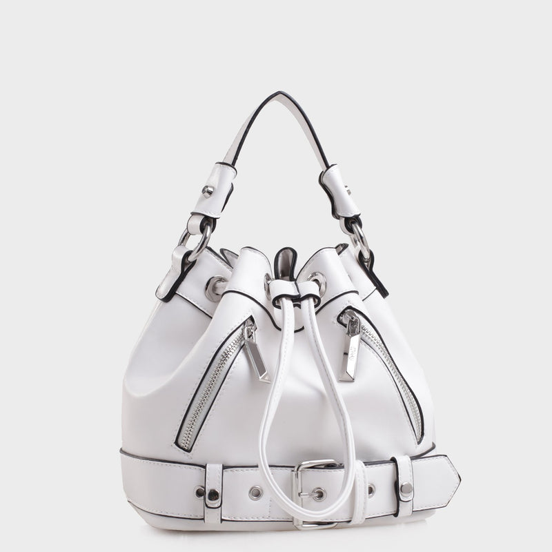 Izzy and Ali Vegan Leather Handbags - Agnes Drawstring Interior
