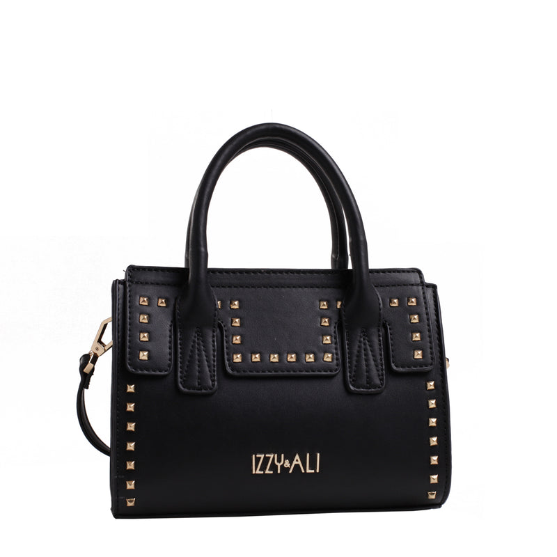 Izzy and Ali Vegan Leather Handbags - Studded Satchel