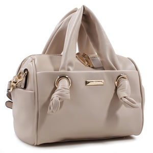 Izzy and Ali Vegan Leather Handbags - Mini Satchel Beige