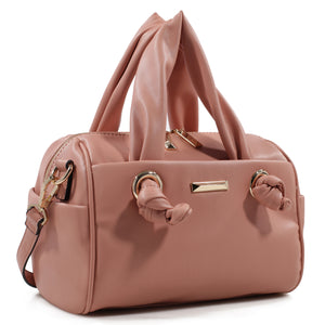 Izzy and Ali Vegan Leather Handbags - Mini Satchel Dark Blush