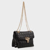 Izzy and Ali Vegan Leather Handbags - Adele Shoulder in black