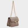 Izzy and Ali Vegan Leather Handbags - Adele Shoulder in taupe