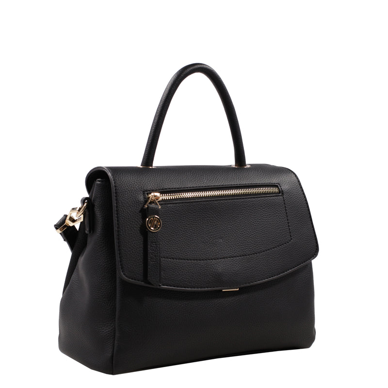 Izzy and Ali Vegan Leather Handbags - Chic Satchel