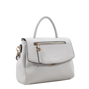 Izzy and Ali Vegan Leather Handbags - Chic Satchel White