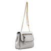 Izzy and Ali Vegan Leather Handbags - Mini Satchel with Chain White