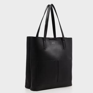Izzy and Ali Vegan Leather Handbags - Cory Tote in black