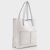 Izzy and Ali Vegan Leather Handbags - Cory Tote in white