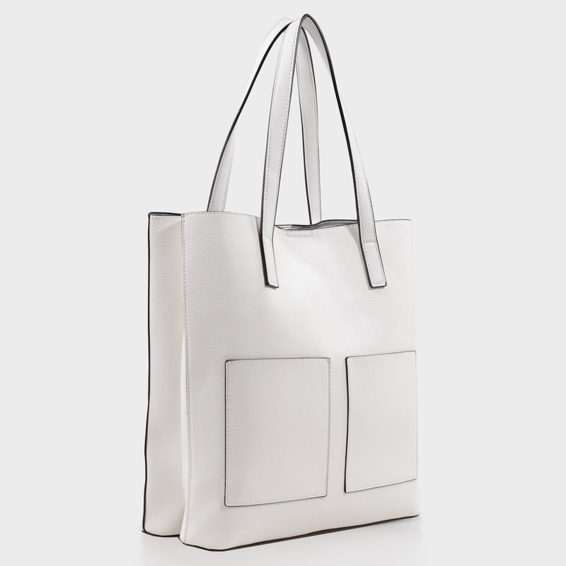 Izzy & Ali | Cory Tote in white