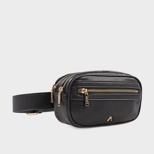 Izzy and Ali Vegan Leather Handbags - Missy Belt in black