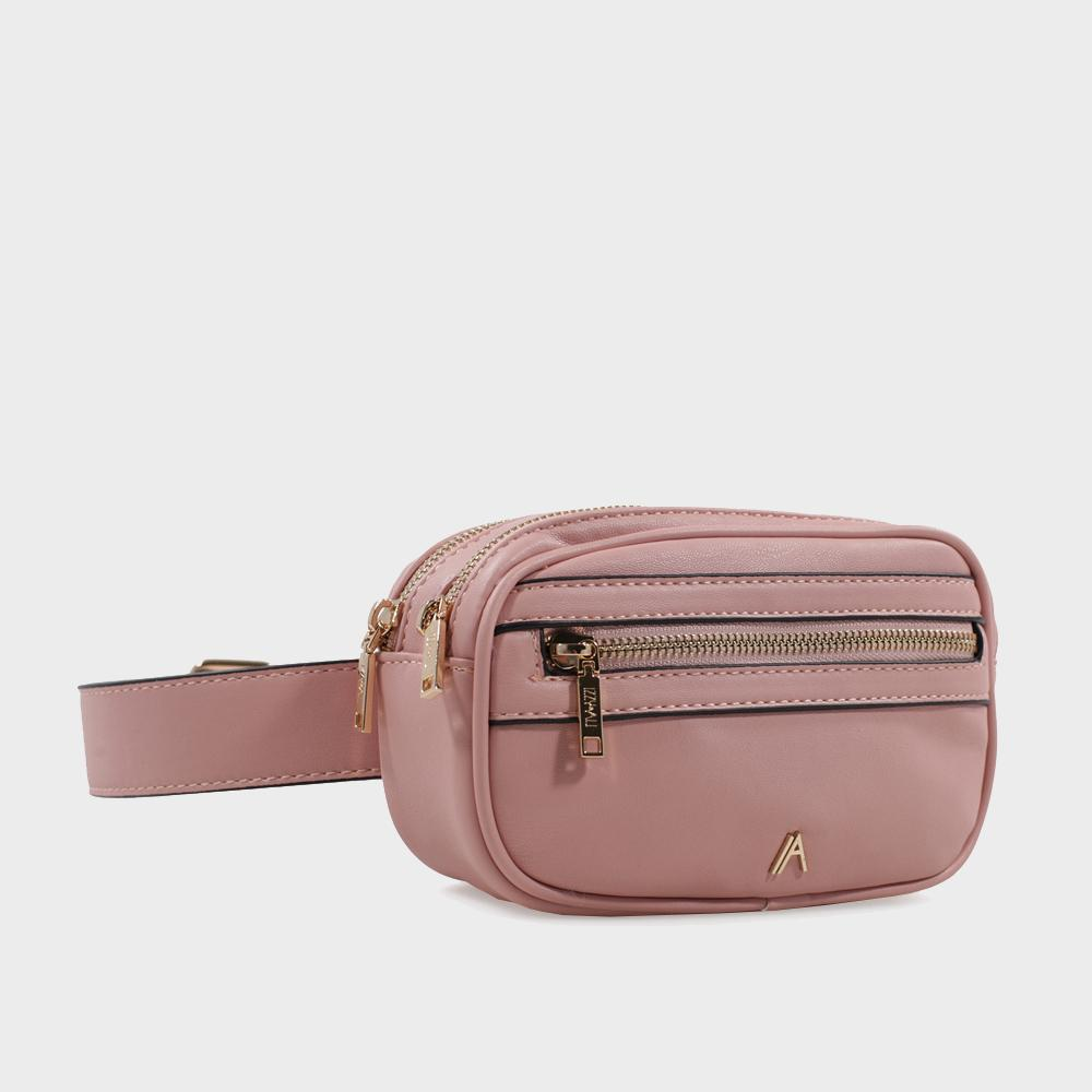 Izzy and Ali Vegan Leather Handbags - Missy Belt in blush