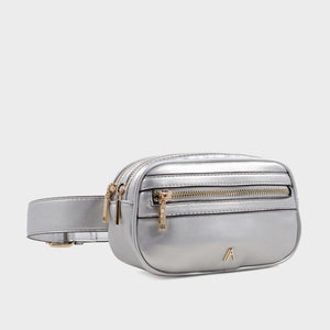 Izzy and Ali Vegan Leather Handbags - Missy Belt in silver