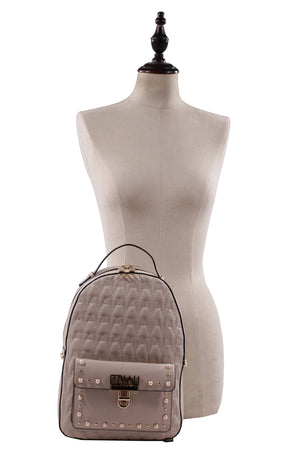 Izzy and Ali Vegan Leather Handbags - Signature Quilted Daypack