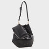 Izzy and Ali Vegan Leather Handbags - Catskill Drawstring in black