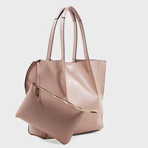 Izzy and Ali Vegan Leather Handbags - Catskill Tote in blush