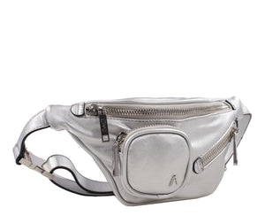 Izzy and Ali Vegan Leather Handbags - Chic Fanny Silver