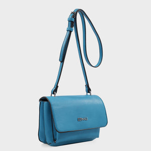 Izzy and Ali Vegan Leather Handbags - Cory Crossbody in aqua
