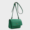 Izzy and Ali Vegan Leather Handbags - Cory Crossbody in green