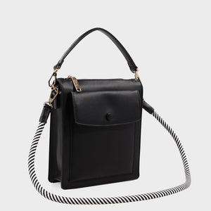 Izzy and Ali Vegan Leather Handbags - Courtney Shoulder in black
