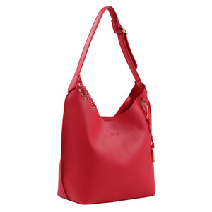 Izzy and Ali Vegan Leather Handbags - Chic Tote Red