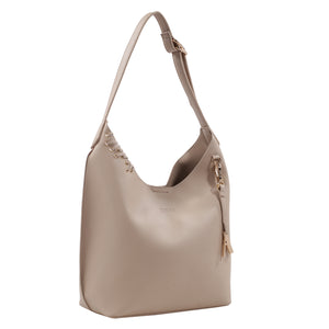 Izzy and Ali Vegan Leather Handbags - Chic Tote Taupe