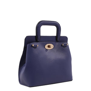 Izzy and Ali Vegan Leather Handbags - Classic Mini Satchel Navy