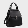 Izzy and Ali Vegan Leather Handbags - Cass Satchel Black