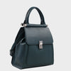 Izzy and Ali Vegan Leather Handbags - Cass Satchel Green