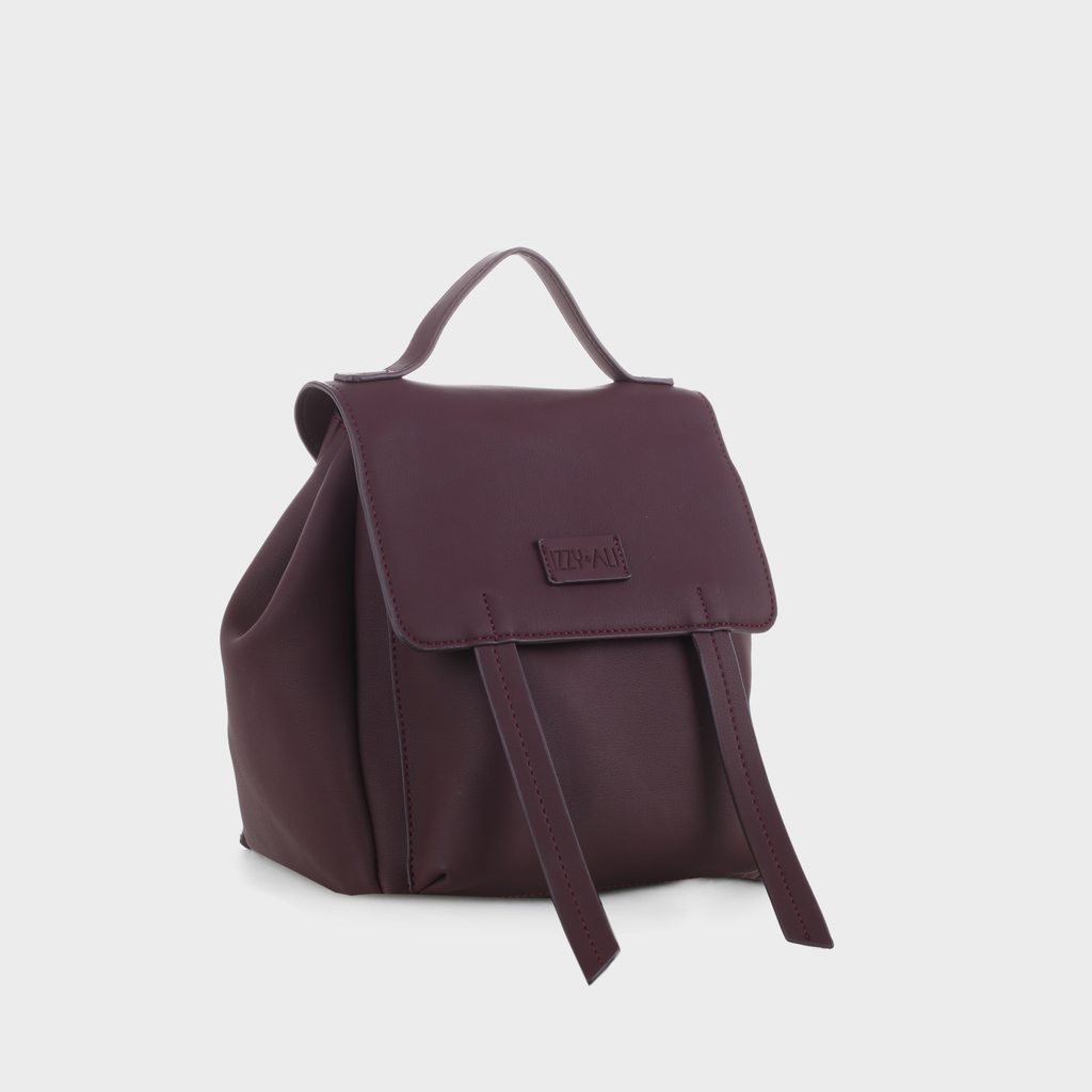 Izzy and Ali Vegan Leather Handbags - Dimitri Backpack in wine