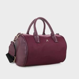 Izzy and Ali Vegan Leather Handbags - Emo Satchel Wine